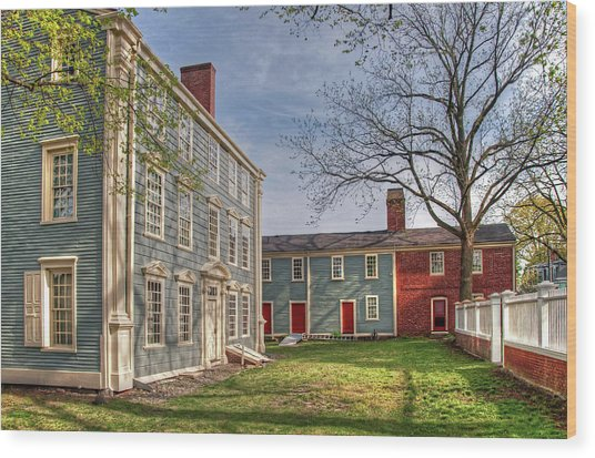 Royall House And Slave Quarters Wood Print