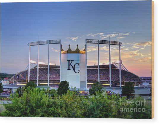 Royals Kauffman Stadium  Wood Print
