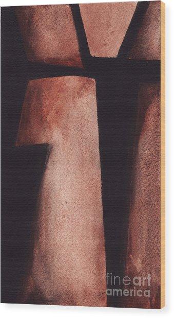 Rt 80 Abstract 4 Wood Print