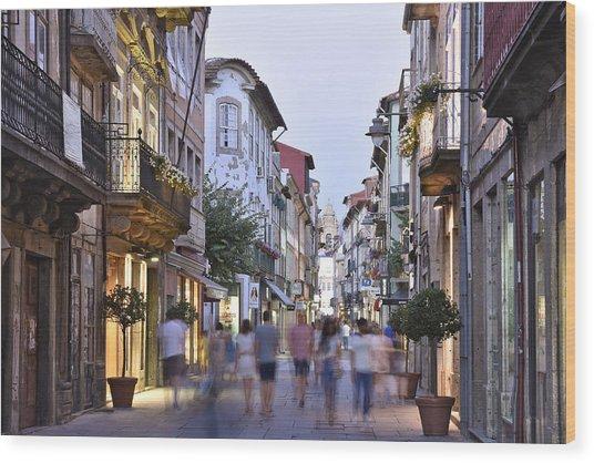 Rua Do Souto Braga Portugal Wood Print