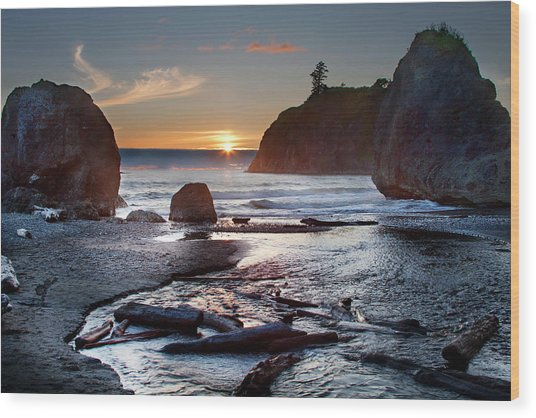 Ruby Beach #1 Wood Print