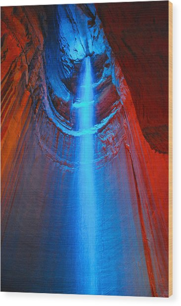 Ruby Falls Waterfall 3 Wood Print