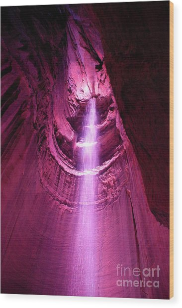 Ruby Falls Waterfall 5 Wood Print