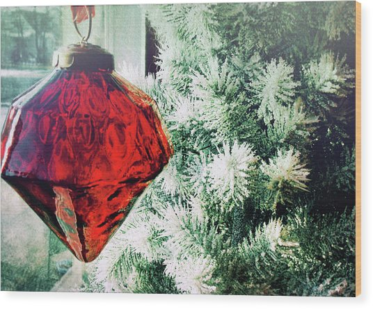 Ruby Red Wood Print by JAMART Photography