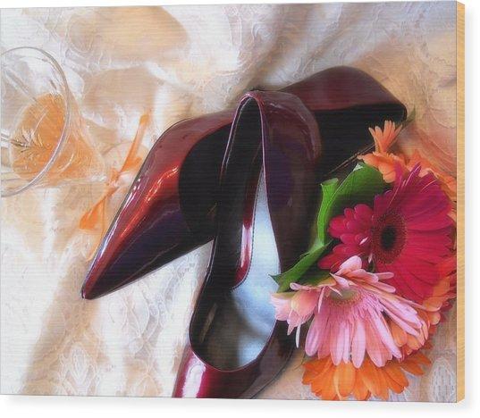 Ruby Slippers Wood Print