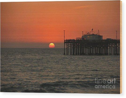 Ruby's Sunset Wood Print