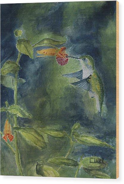 Rubythroated Hummingbird Wood Print