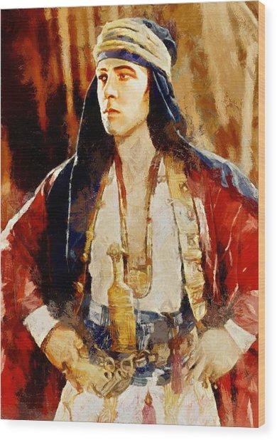 Rudolph Valentino As The Sheikh Wood Print
