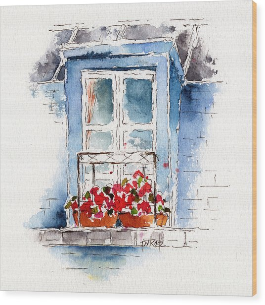 Rue Bernardine Window Wood Print