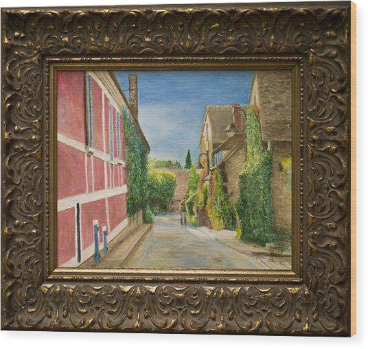 Rue Claude Monet Wood Print