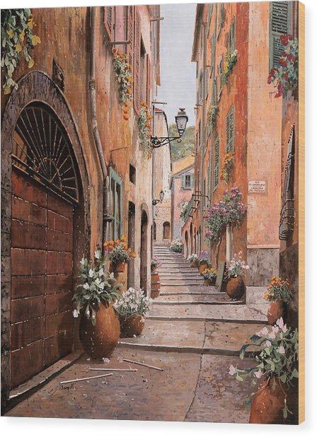 rue Malonat in  Nice  Wood Print