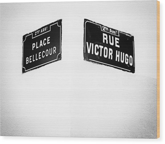 The Corner Of Place Bellecour And Rue Victor Hugo Wood Print