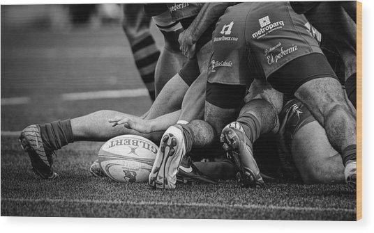 Rugby Wood Print