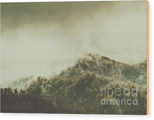 Rugged Atmosphere Wood Print