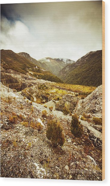 Rugged Valley Wilderness Wood Print