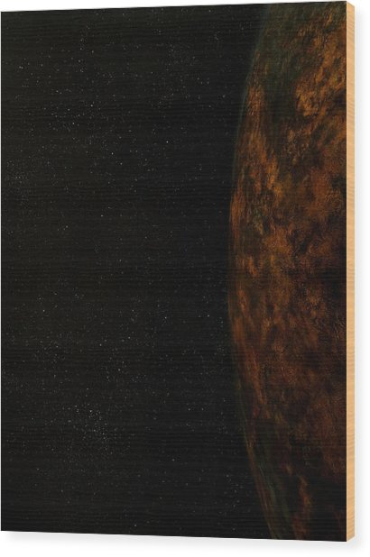 Rugged World Wood Print