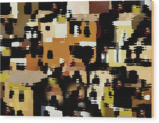 Ruins, An Abstract Wood Print