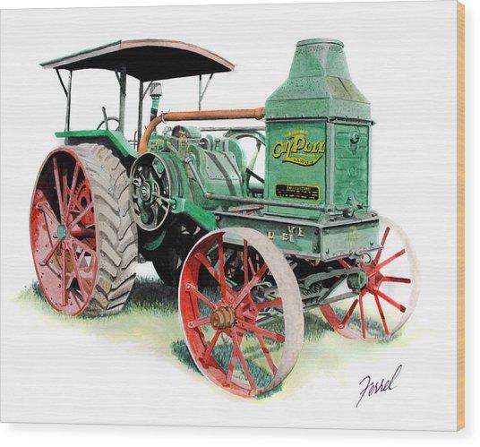 Rumely Oil Pull 2040 Wood Print