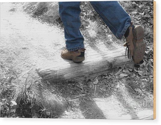 Run Away Wood Print by Jeannie Burleson