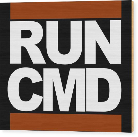 Run Cmd Wood Print