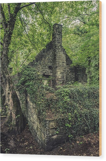 Run Down Mill Wood Print