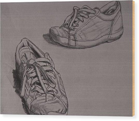 Runners Wood Print by Chris  Riley