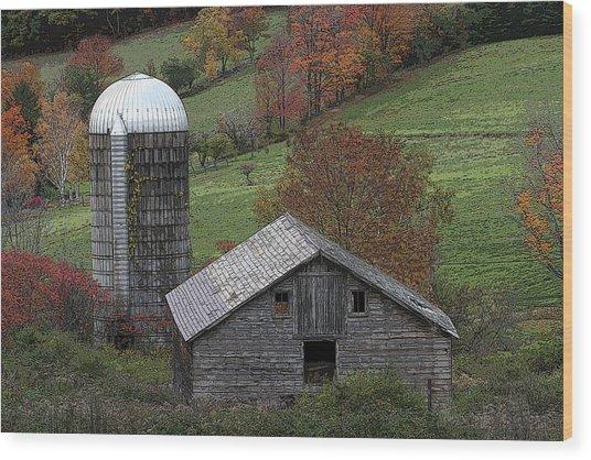 Rupert Mountain Face Barn Wood Print