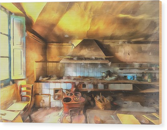 Rural Culinary Atmosphere Nr 2 - Atmosfera Culinaria Rurale IIi Paint Wood Print