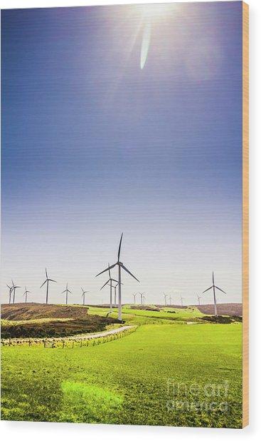 Rural Power Wood Print
