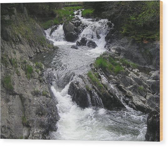 Rushing Waterfalls Wood Print by Allison Prior
