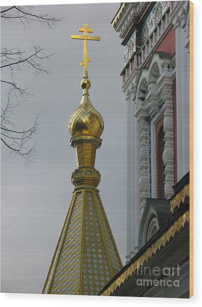 Russian Church Dome Wood Print