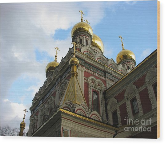 Russian Church Domes Wood Print