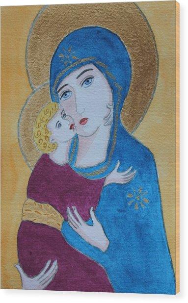Russian Madonna Wood Print