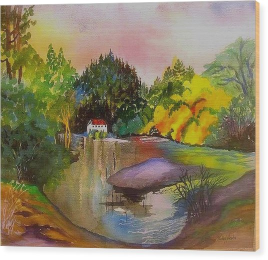 Russian River Dream Wood Print