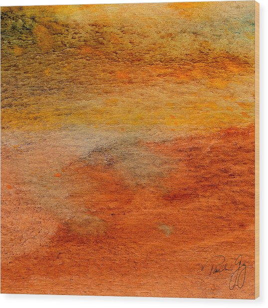 Rust And Sand 2 Wood Print