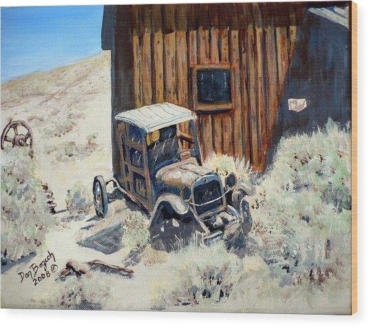 Rust In Peace Wood Print by Dan Bozich