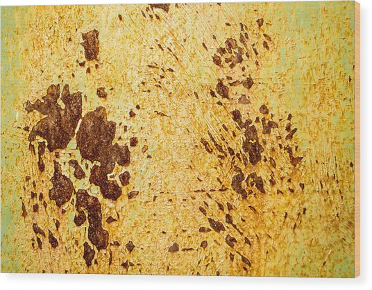 Rust Metal Wood Print