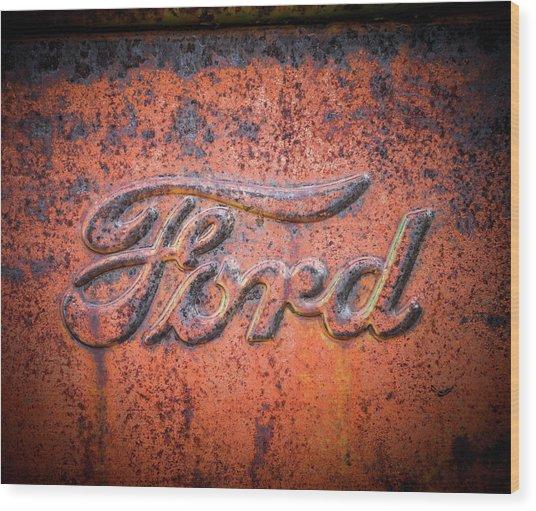 Rust Never Sleeps - Ford Wood Print
