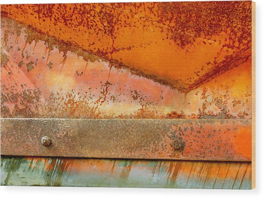 Rust On Rust Wood Print