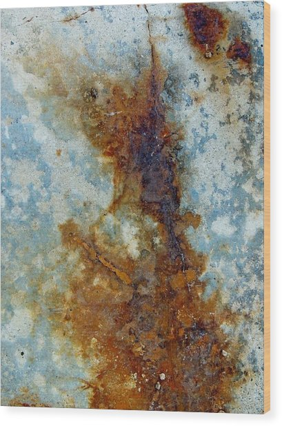 Rusted Abstraction 2 Wood Print