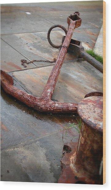 Rusted Anchors Wood Print