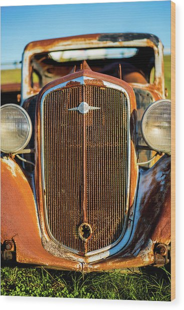 Rusted Chevrolet Wood Print