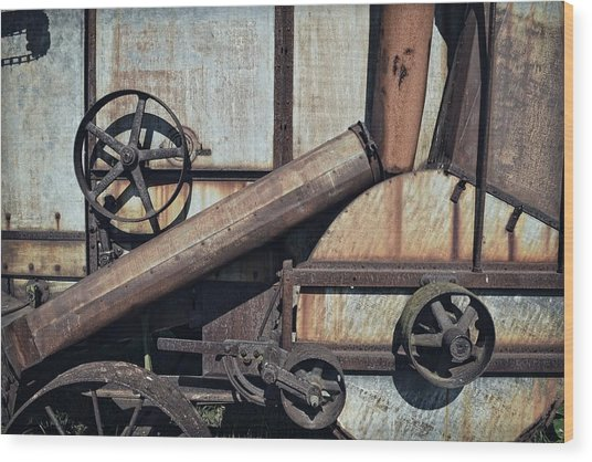 Rusted In Time Wood Print