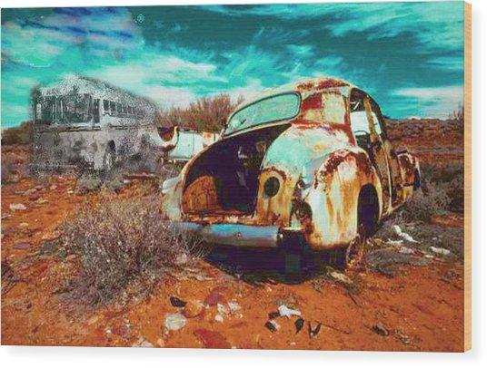 Rusted Wood Print by Leah Devora