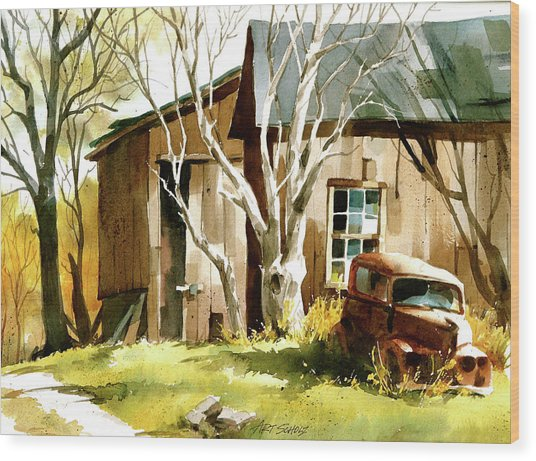 Rusted 'n Retired Wood Print by Art Scholz