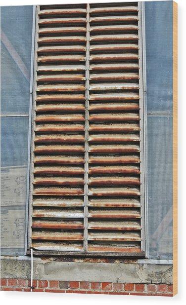 Rusted Shut Wood Print