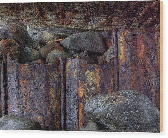 Rusted Stones 3 Wood Print