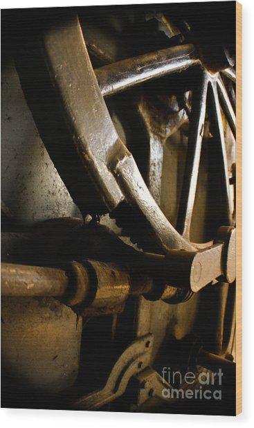 Rusted Wheel Wood Print