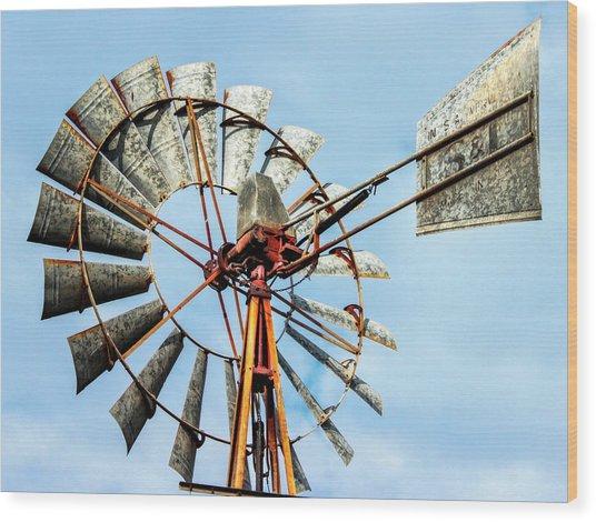 S And L Windmill Wood Print
