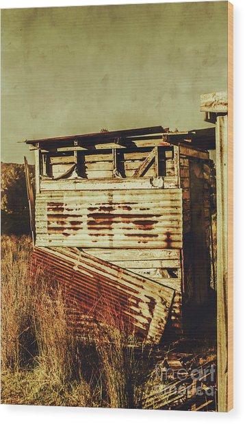 Rustic Abandonment Wood Print